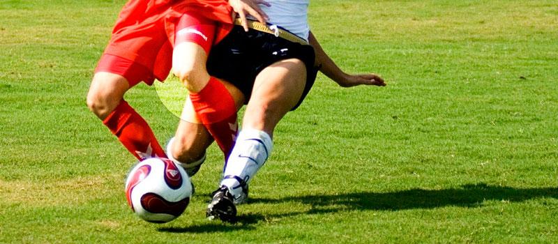 lesión de rodilla en el futbol